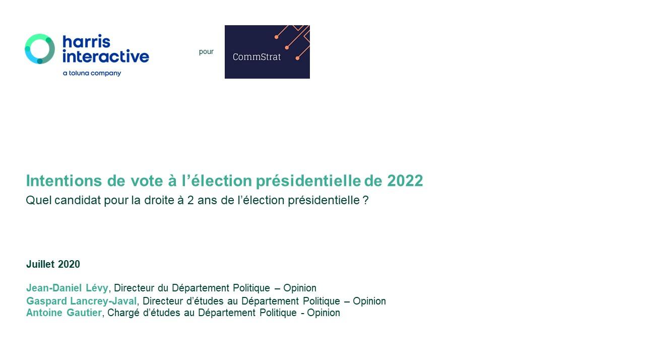 Intentions de vote à l'élection présidentielle de 2022 – Quel candidat pour la droite à 2 ans de l'élection présidentielle ? image