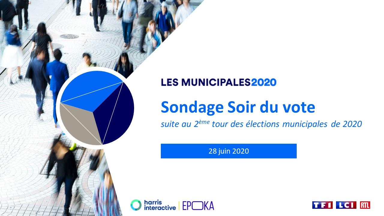 Municipales 2020 – Second Tour : sondage Soir du Vote image